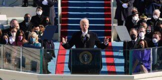 Biden nel giorno del giuramento
